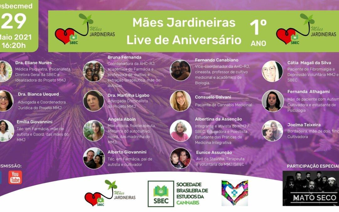 29/05 – LIVE DE ANIVERSÁRIO DE 1 ANO DO PROJETO MÃES E MULHERES JARDINEIRAS